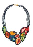 手刺繍アフリカンフラワー・ネックレス