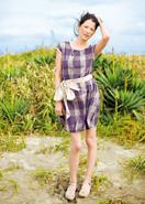 イカット織りブロックチェック・ドレス