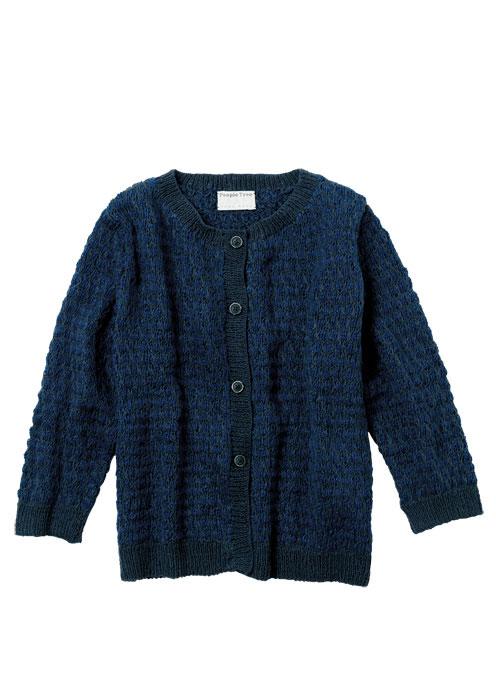 手編みハニカムニット カーディガン